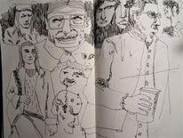 Alltag, Gesellschaft, Skizze, Zeichnungen