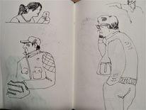 Menschen, Skizze, Alltag, Zeichnungen