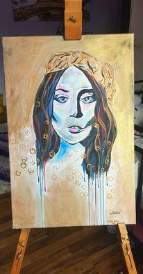 Frau, Abstrakt, Malerei
