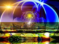 Kunstdruck, Licht, Dimension, Farben
