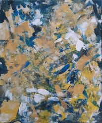 Weiß, Dezent, Acrylmalerei, Blau