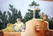 Römisch, Gemälde, Garten, Figural