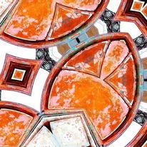 Orange, Bschoeni, Abstrakt, Digitale kunst