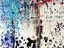 Landschaft, Graffiti, Genua, Abendstimmung