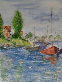 Regatta, Monet, Boot, Segelschiff