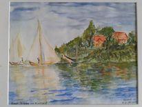 Sommertage, Argenteuil, Monet, Segelschiff