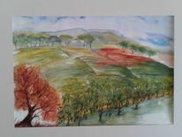 Weinberg, Baum, Rebe, Herbst