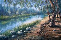 Fluss, Russland, Wald, Natur