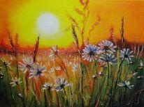 Natur, Blumen, Malerei, Landschaft