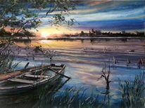 Malerei, Natur, Zeichnung, Landschaft