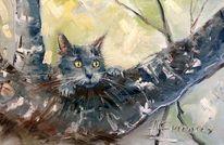 Katze, Natur, Malerei