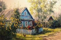 Zeichnung, Russland, Sommer, Natur