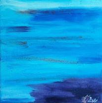 Abstrakt, Meer, Ölmalerei, Türkis