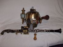 Steampunk waffen, Todesklingler, Helm, Klarinette