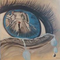 Empatisch, Malerei, Schmerzlich traurig, Surreal