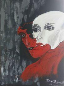 Neue haut, Anziehend, Malerei, Surreal