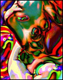 Frau, Abstrakt, Digital, Fotografie