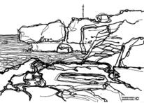 Nebenbeigekritzel, Landschaft, Skizze, Illustrationen