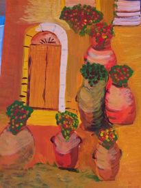 Blumen, Tonträger mit, Ansicht, Rot