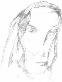 Figural, Portrait, Expressionismus, Zeichnungen