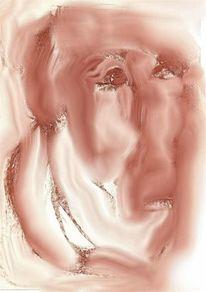 Portrait, Figural, Expressionismus, Aquarell