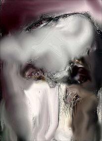 Figural, Portrait, Expressionismus, Mischtechnik