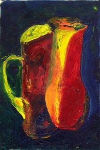 Ölmalerei, Expressionismus, Fantasiewesen, Malerei