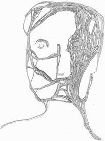 Digital, Portrait, Expressionismus, Mischtechnik