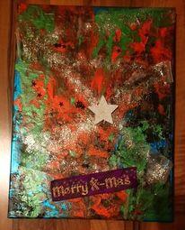 Grün, Acrylfarben, Weihnachten, Mas