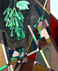 Farben, Dreieck, Baum, Abstrakt