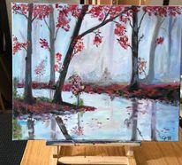 Baum, Wasser, Fluss, Landschaft