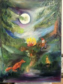 Rumpelstilzchen, Märchen, Ölmalerei, Malerei