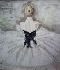 Ballett, Tanz, Ölmalerei, Ballerina