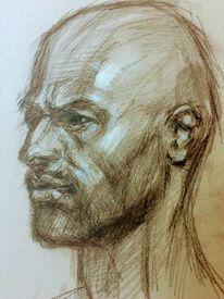 Portraitzeichnung, Charakterköpfe, Zeichnungen