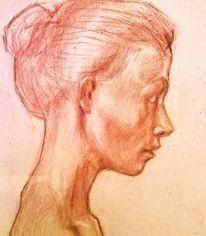 Studie, Gesicht, Portrait, Zeichnungen
