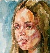 Portrait, Gemälde, Aquarellmalerei, Malerei