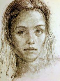Portrait, Studie, Skizze, Zeichnungen