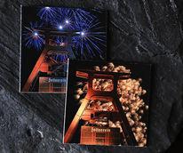 Förderturm, Bunt, Industrie, Feuerwerk