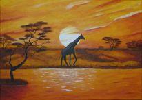 Wasser, Tiere, Landschaft, Afrika