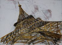 Strukturpaste, Architektur, Spachtel, Turm