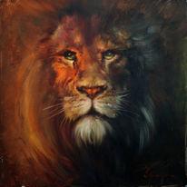 Malerei, Natur, Löwe, Augen