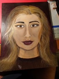 Acrylmalerei, Portrait, Haare, Frau