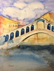 Venedig, Wasser, Brücke, Rialtobrücke