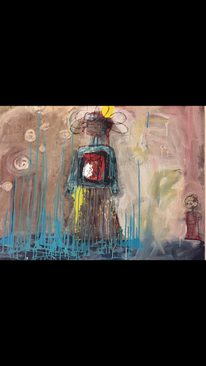 Erwartung, Acrylmalerei, Fluss, Abstrakt