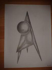 Fantasie, Zeichnung, Bleistiftzeichnung, Geometrie