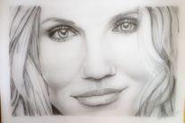 Díaz, Bleistiftzeichnung, Portrait, Blond