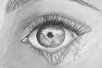 Augen, Tränen, Pupille, Frau
