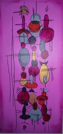 Malerei, Abstrakt, Lila