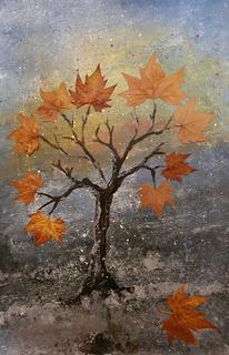 Surreal, Natur, Malerei, Mischtechnik