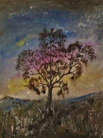 Baum, Malerei, Natur, Surreal